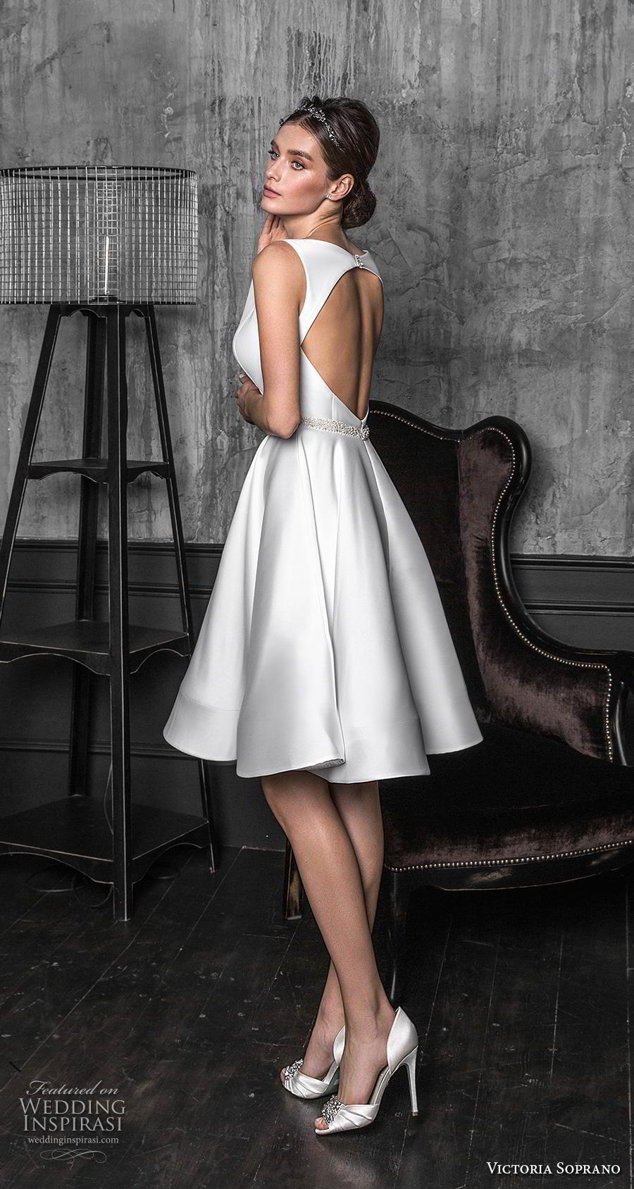 Victoria Soprano 2020 Wedding Dresses Chic Royal Bridal Collection Wedding Inspirasi Knee Length Wedding Dress Short Wedding Dress 2020 Wedding Dresses [ 1688 x 900 Pixel ]