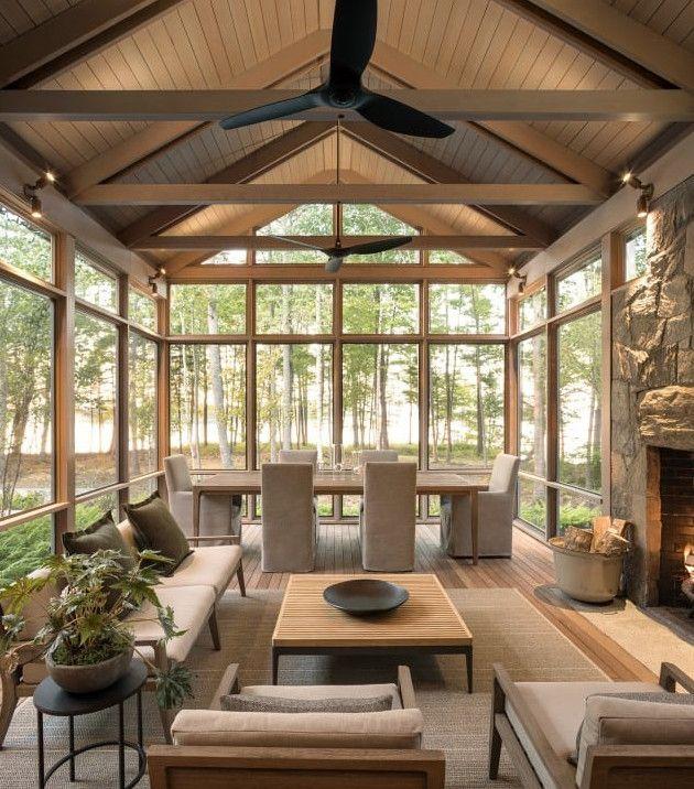 Une Maison D Architecte En Bois Au Milieu Des Arbres Deco Exterieur Maison Idees Veranda Maison Darchitecte