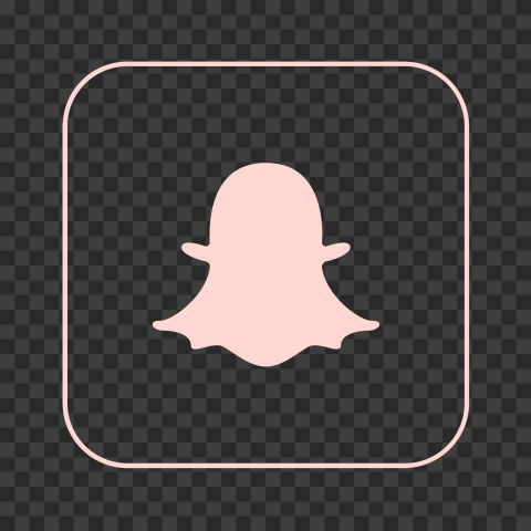 Hd Snapchat Square Pink Outline App Icon Png Image App Icon Png Images Icon