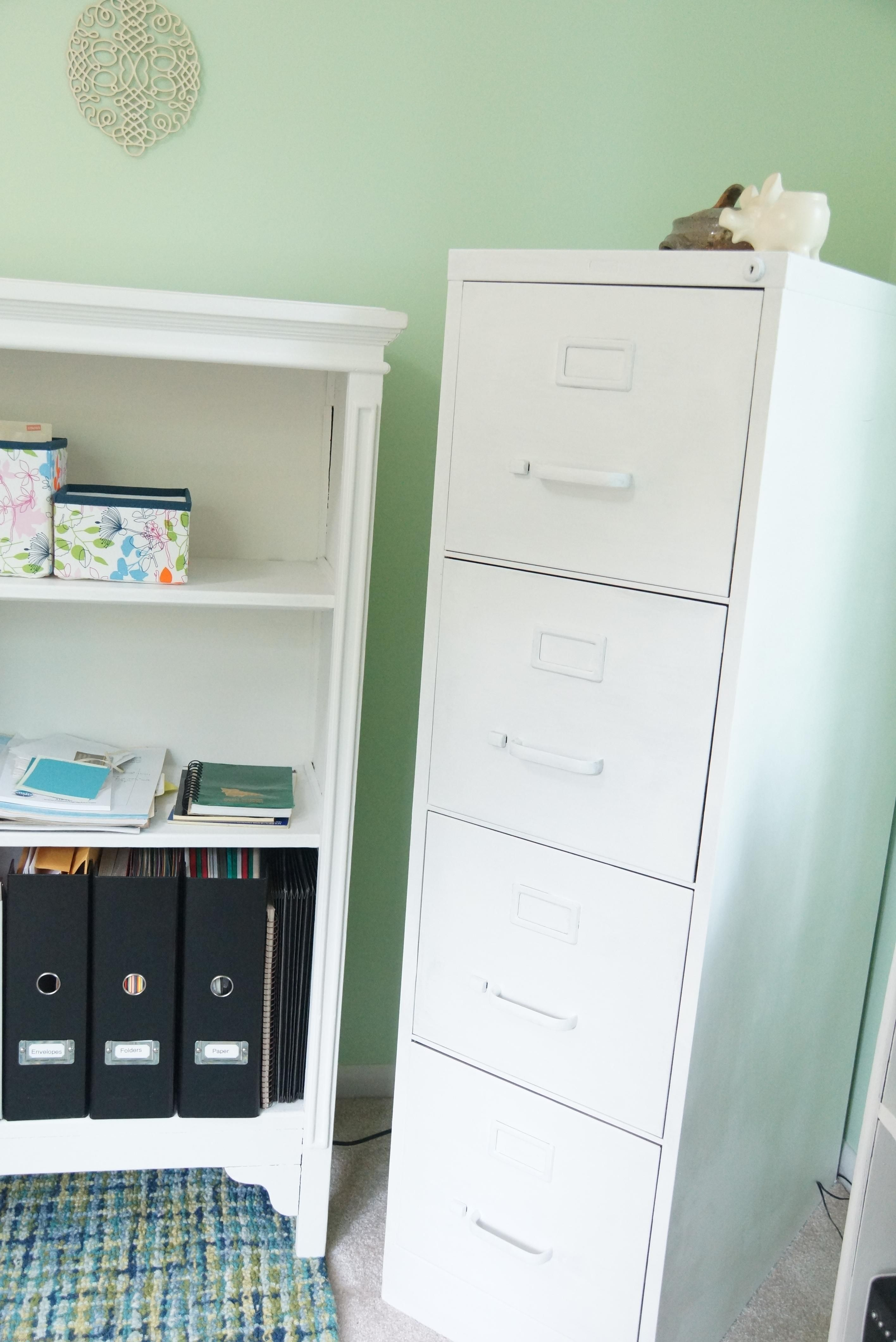 Home Office File Cabinet Painted With Annie Sloane