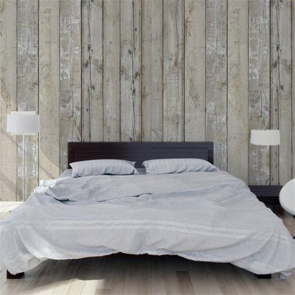 papier peint bois deco chambre parental