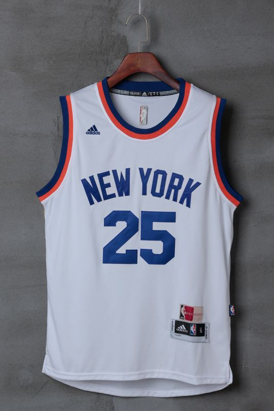 detailed look c3041 2748b New York Knicks #25 Rose New White Stitched NBA Jersey ...