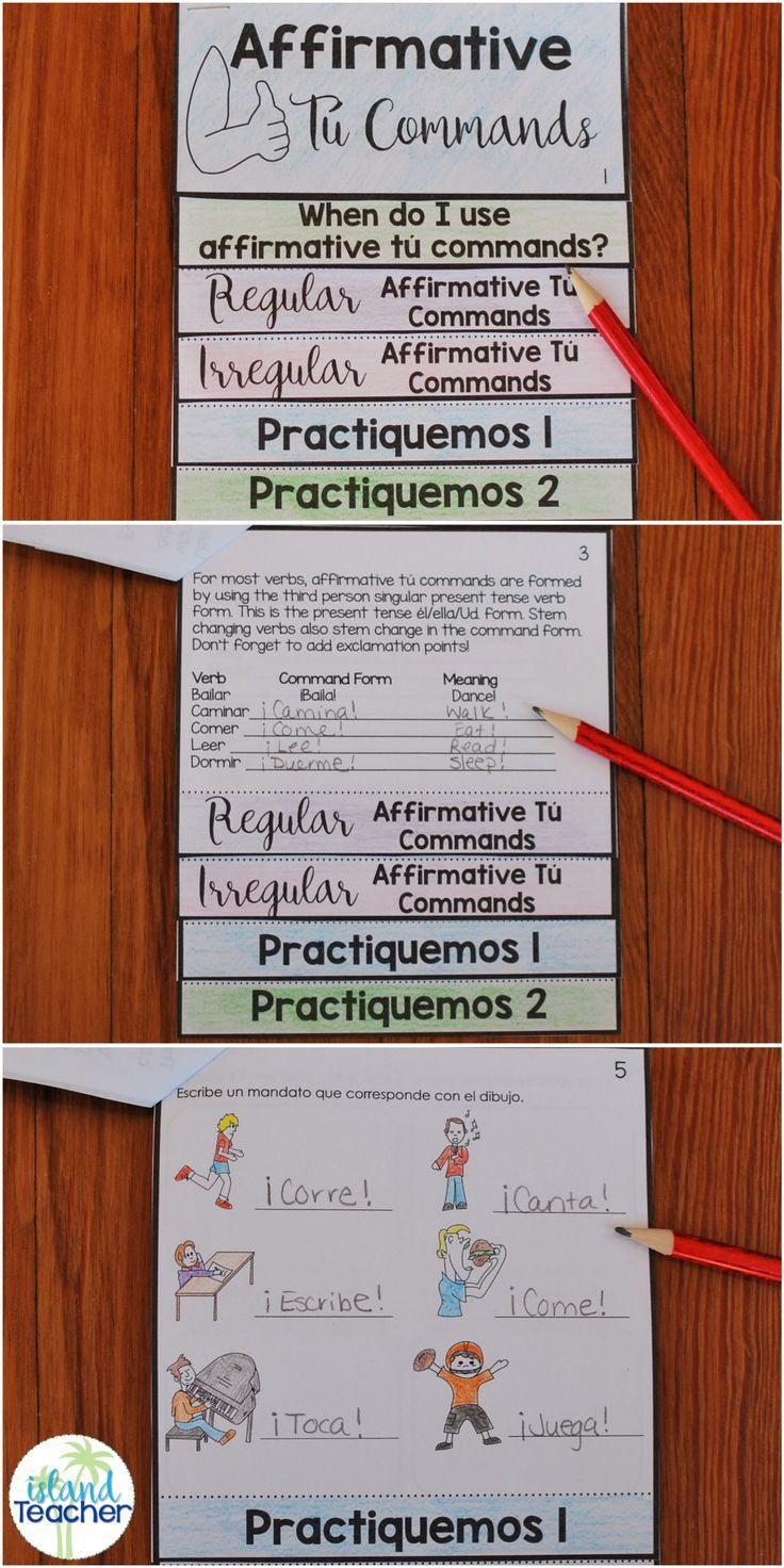 Spanish Affirmative Tu Commands Flip Book Includes Notes And Practice Pages Can B Spanish Interactive Notebook Spanish Teacher Resources How To Speak Spanish [ 1472 x 736 Pixel ]