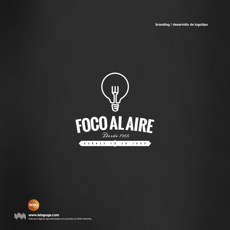 Diseño de Logotipo. Cliente: Foco Al Aire. Agencia: GOGA Marketing.
