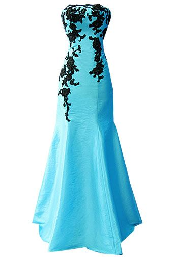 Bridesmaid Dresses Turquoise And Black Taffeta Black And Turquoise