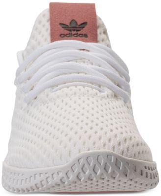 adidas Girls  Originals Pharrell Williams Tennis Hu Casual Sneakers from  Finish Line - WHITE PINK 7 62ad424e69e