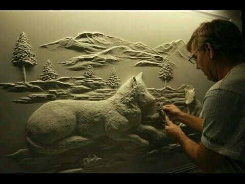 Drywall art, simply awesome!