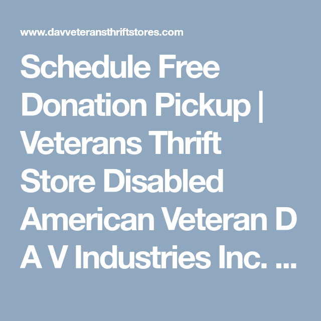 Schedule Free Donation Pickup