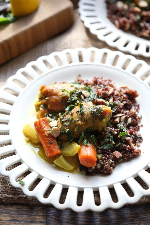 Baked moroccan chicken thighs with carrots recipe moroccan baked moroccan chicken thighs with carrots recipe moroccan chicken moroccan and carrots forumfinder Choice Image