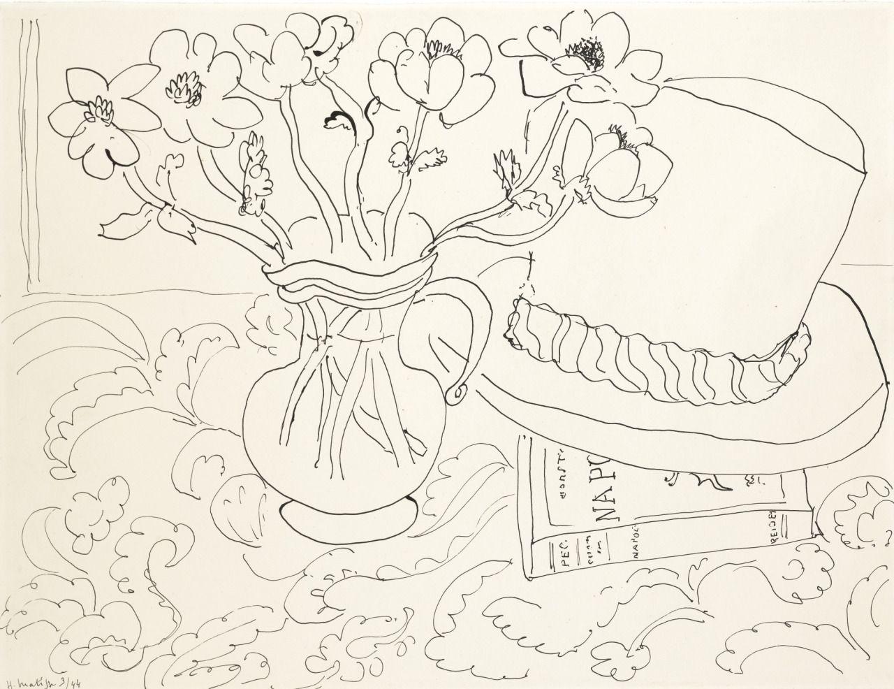 Nature morte au chapeau Tahitien (1944) - Henri Matisse