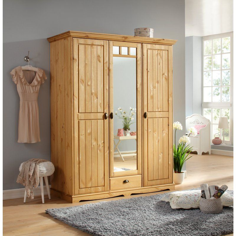Armoire Penderie Bois Armoire Penderie Pin Massif 3 Portes 1