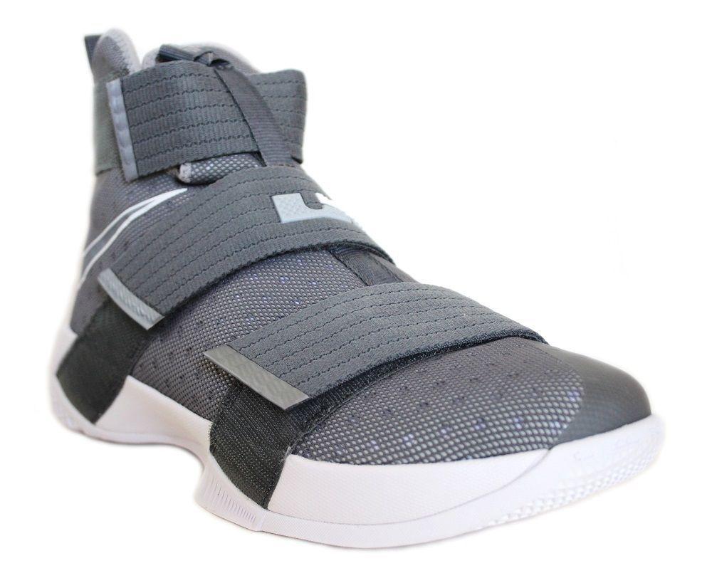 5a86b8facef Nike Men s Lebron Soldier 10 Basketball Shoes 844374 002 Cool Grey White   Nike  BasketballSneakers