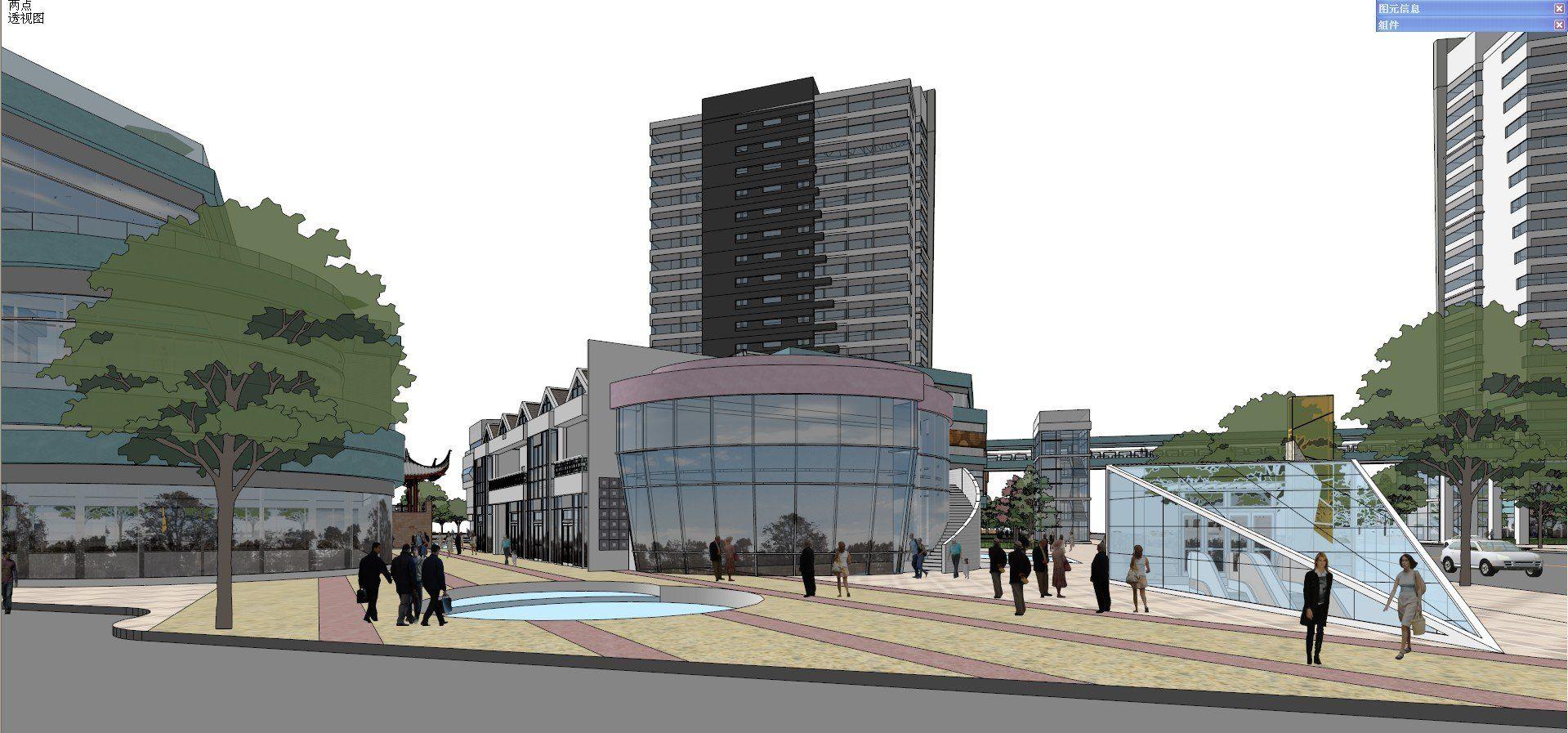 ☆Sketchup 3D Models-Business Building Sketchup Models