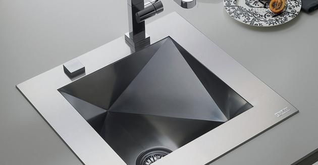 Franke Polyedro Sink Pdx110 Great View Of Inside Detail Kitchen Inspirations Kitchen Faucet Geometric Decor