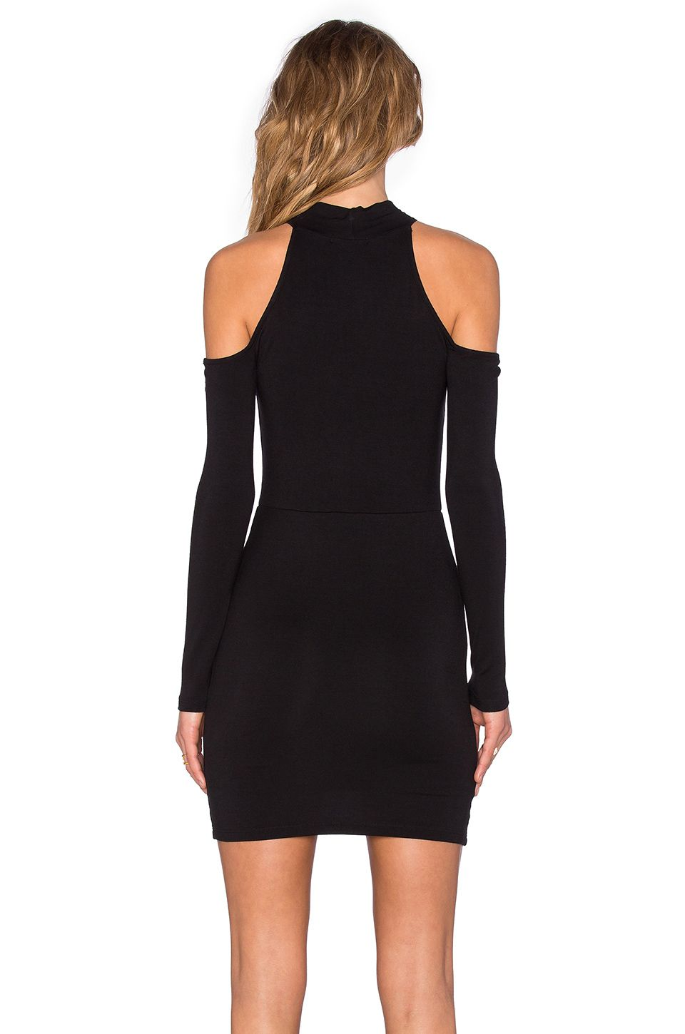 BLQ BASIQ Open Shoulder Mini Dress en Negro | REVOLVE