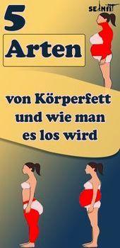 5 Arten von Körperfett und wie man es los wird   - Gesund und Fitness - #Arten ...  5 Arten von Körp...