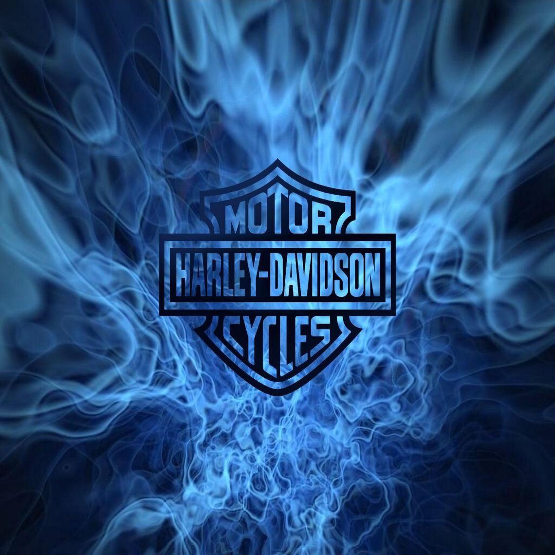 Hd Chiefs Wallpaper: Harley-Davidson Blue Flames