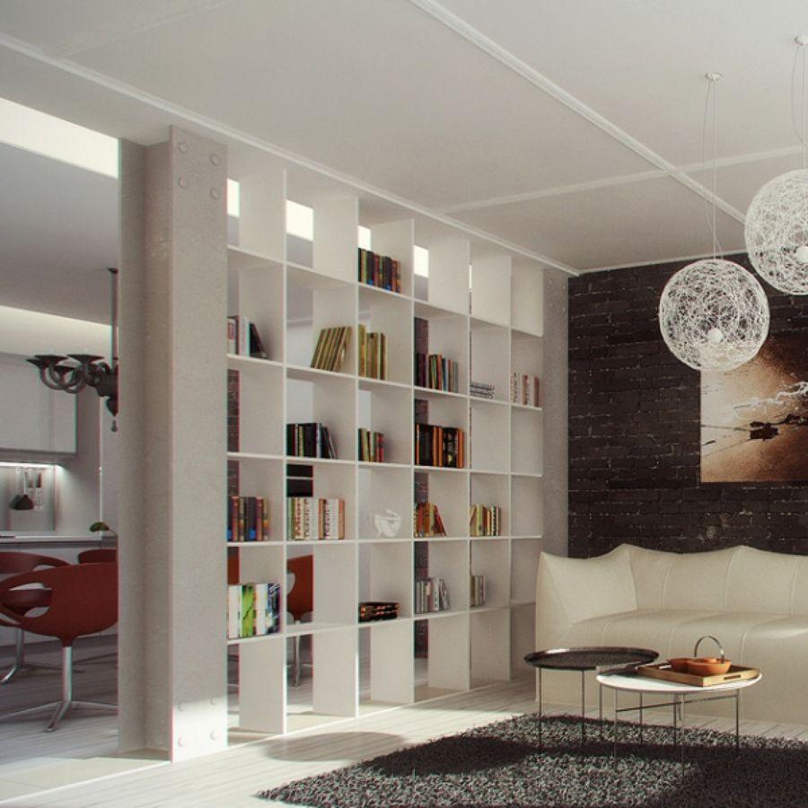 Come Dividere Sala E Cucina separare sala e cucina | divisorio a libreria, design per il
