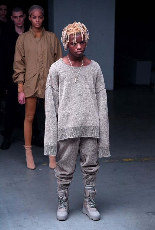 Kanye West Presents Adidas Originals Collaboration At New York Fashion Week Yeezy Outfit Kanye West Clothing Line Yeezy Fashion