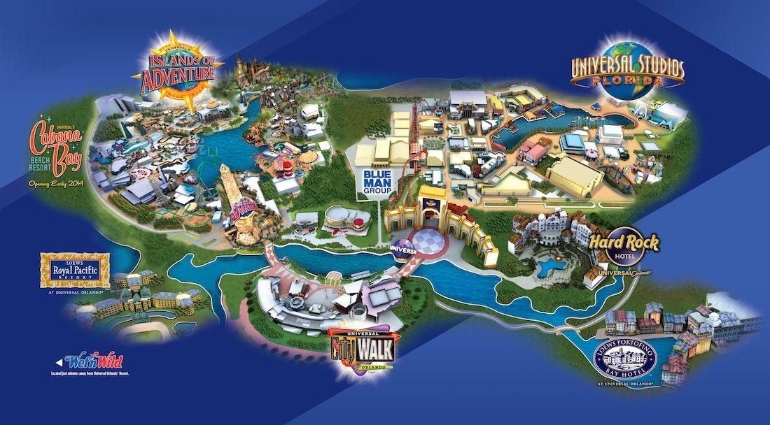 Florida Hotel Map.Universal Orlando Resort Map With Hotel Locations Orlando Vacay