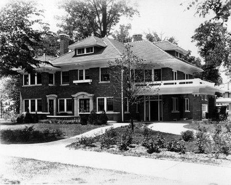 2-story brick house - Indianapolis  Indiana Historical
