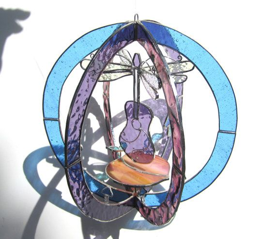 Dream Weaver  Large Stained Glass 3D Sphere  by katiediditglass, $165.00