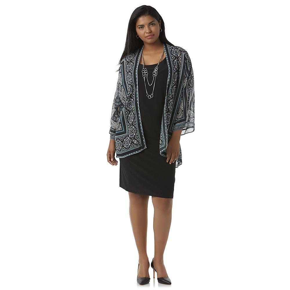 Studio 1 Women\'s Layered-Look Shift Dress & Necklace - Sears | Great ...
