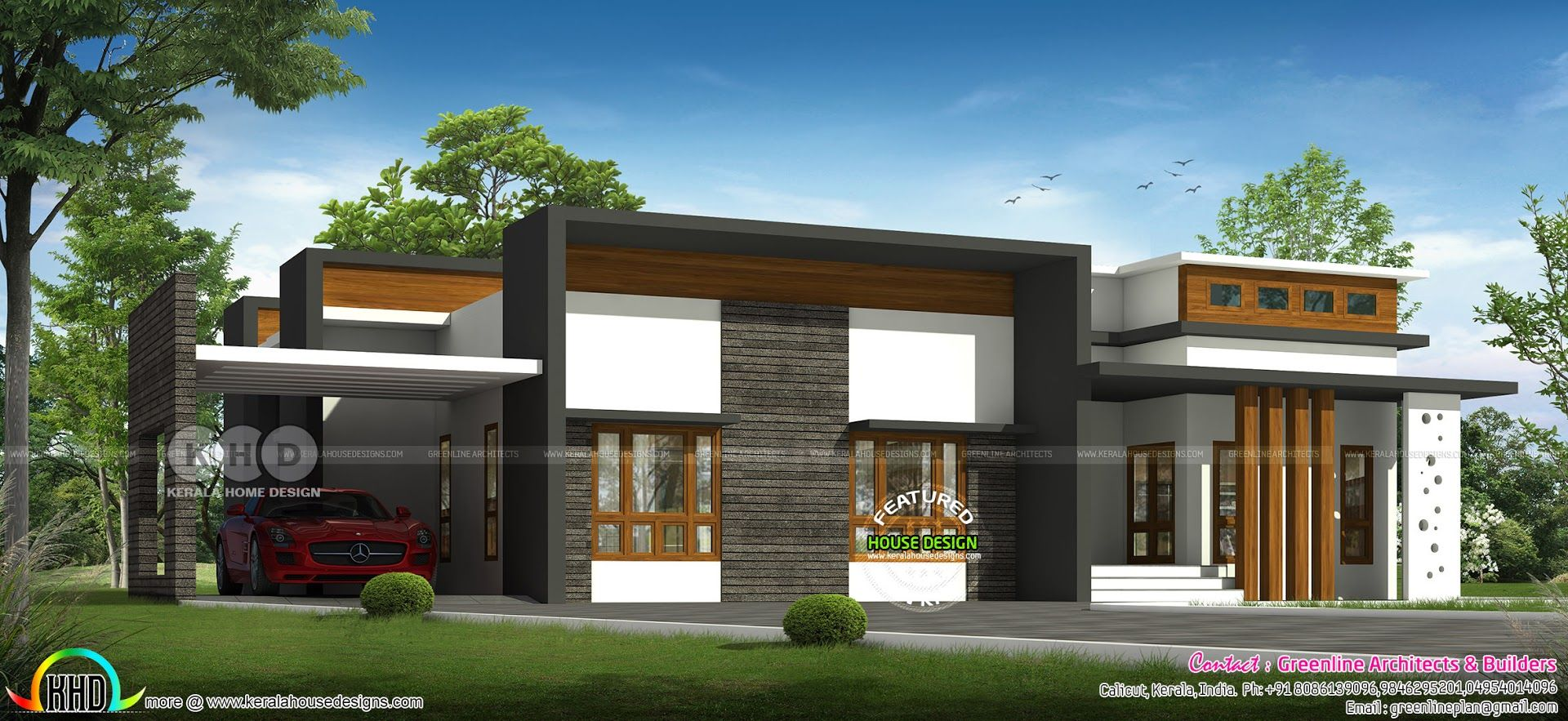 Modern Single Floor 20 Lakhs Cost Estimated Home Kerala House Design Modern Bungalow House Modern Architecture House