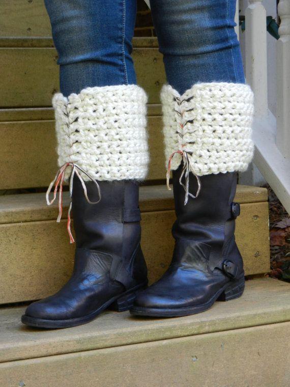 Crochet Boot Cuffs by Sewstacy, $24.00