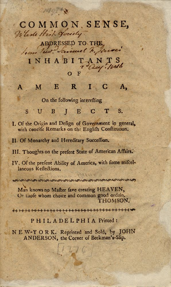 New York Historical Society Essay On Patriotism History Common Sense Thoma Paine Analysi Why Wa Paine' Significant To American Independence Quizlet