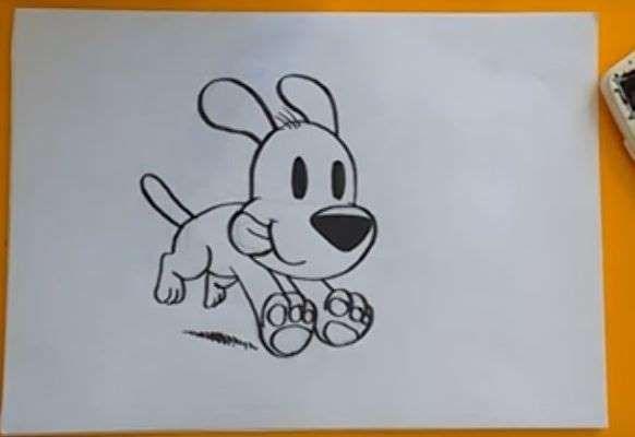 Aprende Como Dibujar Un Perro Corriendo Paso A Paso 5 Como Dibujar Un Perro Correr Dibujo Como Dibujar