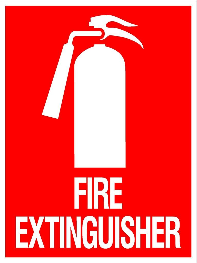 Fire Step Poster Step Extinguisher