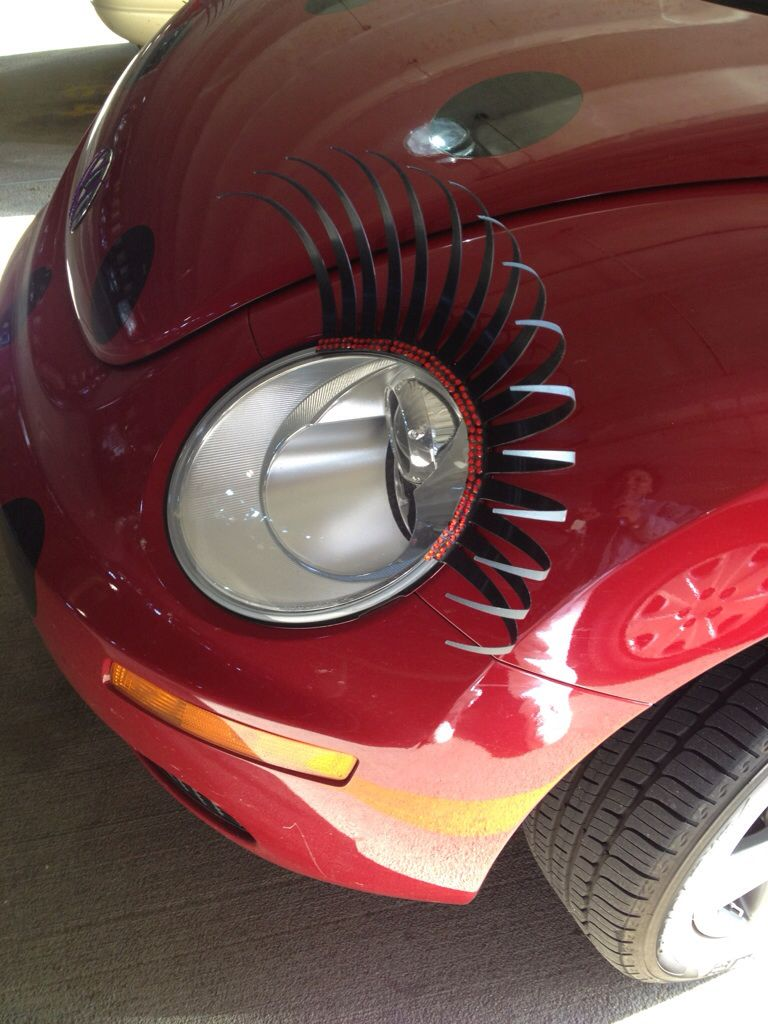 Punch Buggy Car >> Buggy accessories: eyelashes for the new VW Beetle... Not sure how these would go down in ...