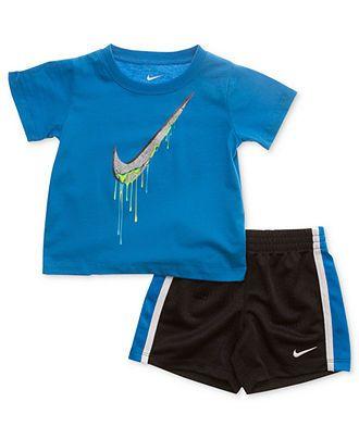 06c8a67d0 Nike Baby Set, Baby Boys Nike Swoosh Tee and Shorts Set - Kids Baby Boy  (0-24 months) - Macys