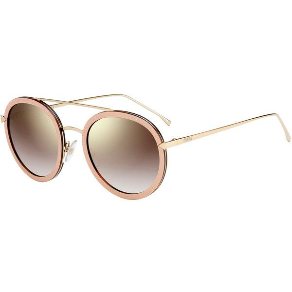 bc1ba09a5c0b Fendi Trimmed Round Mirrored Sunglasses (22