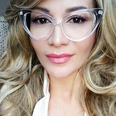 257fcea161f Large Nikita Cat Eye Clear Lens Big Women Nerd Model Eyeglasses Retro Frames  L