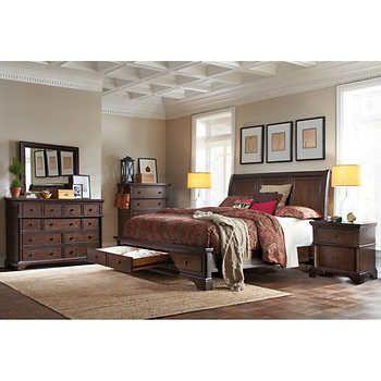 Brownstone 6 Piece Cal King Storage Bedroom Set Bedroom Set