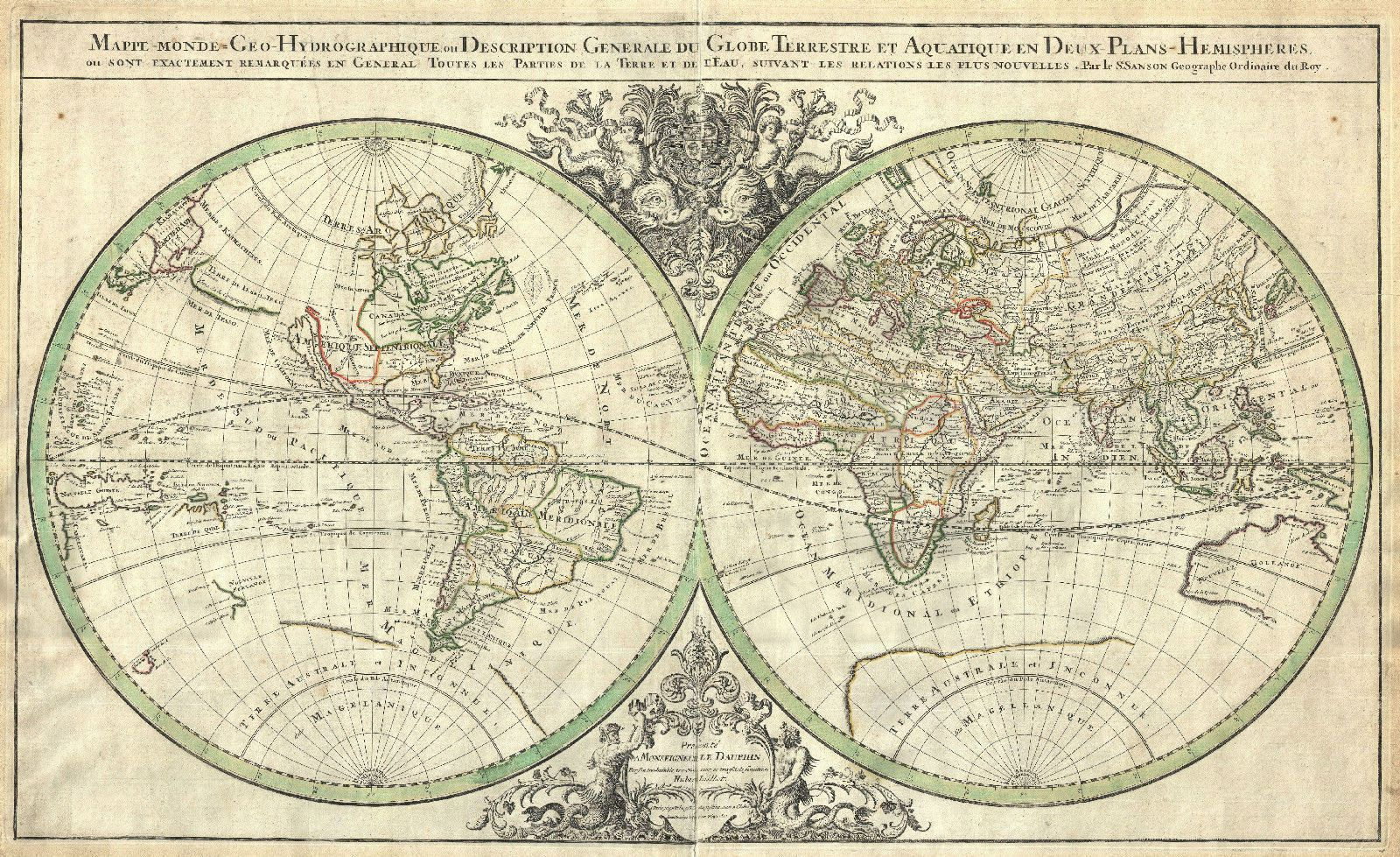 Poster vintage style double hemisphere world map picture print poster vintage style double hemisphere world map picture print cartography gumiabroncs Images