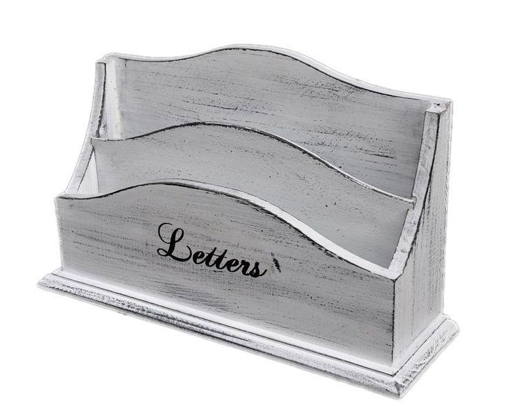 briefk sten wei shabby briefablage holz organizer briefhalt ein designerst ck von spatium. Black Bedroom Furniture Sets. Home Design Ideas