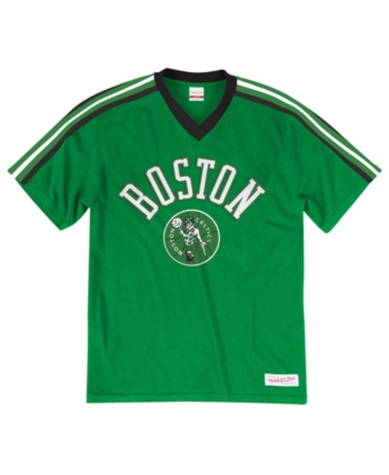 the latest 95d5e 47820 Mitchell   Ness Men s Boston Celtics Overtime Win V-Neck T-Shirt - Green XL