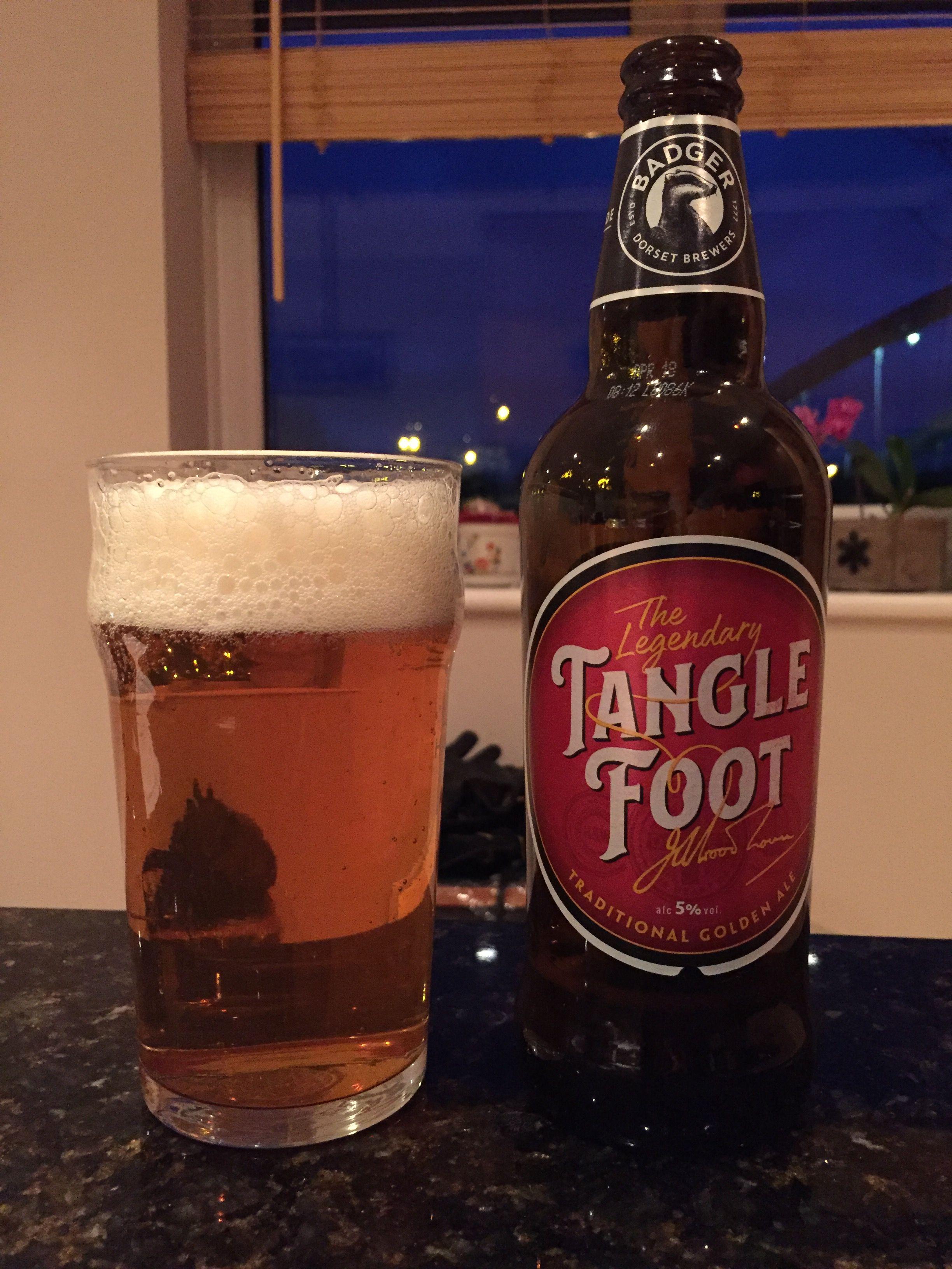 Tangle Foot Traditional Golden Ale Badger Brewery 2018 12 26 Vintage Beer Beer Ale