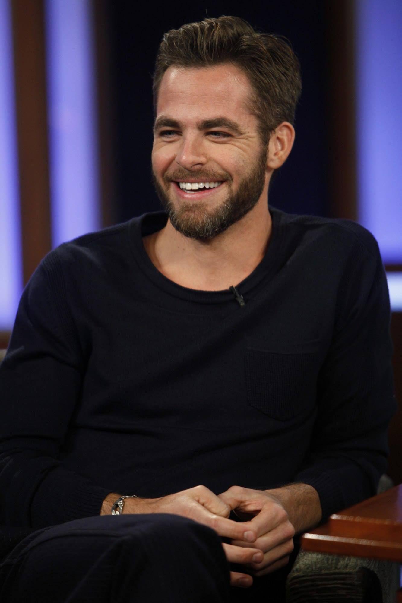 Chris pine smiling