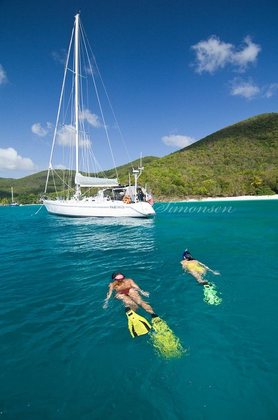 """Sailing/Diving BVI This Is How We Get To The """"Soggy Dollar"""