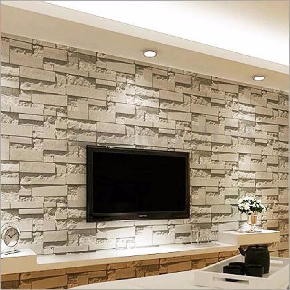 10m Modern 3d Brick Stone Wallpaper Bedroom Mural Roll