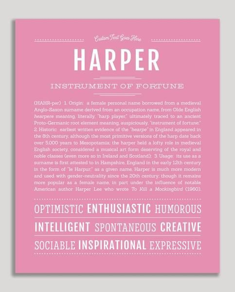 Harper | Classic Name Print | Classic names, Personalized ...