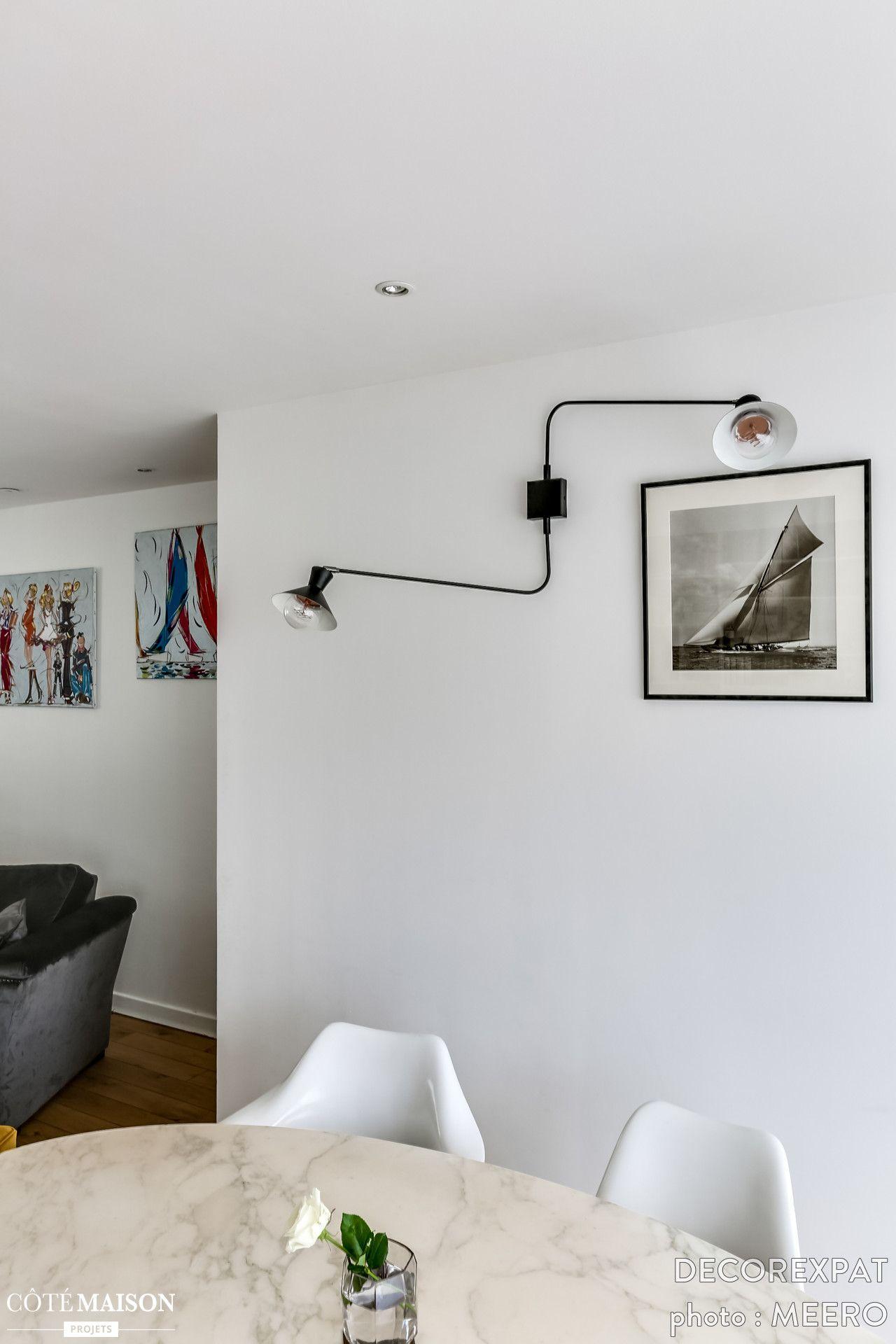 Un Espace De Vie Versaillais Chaleureux Et Lumineux Decorexpat  # Salon Et Tele Plat