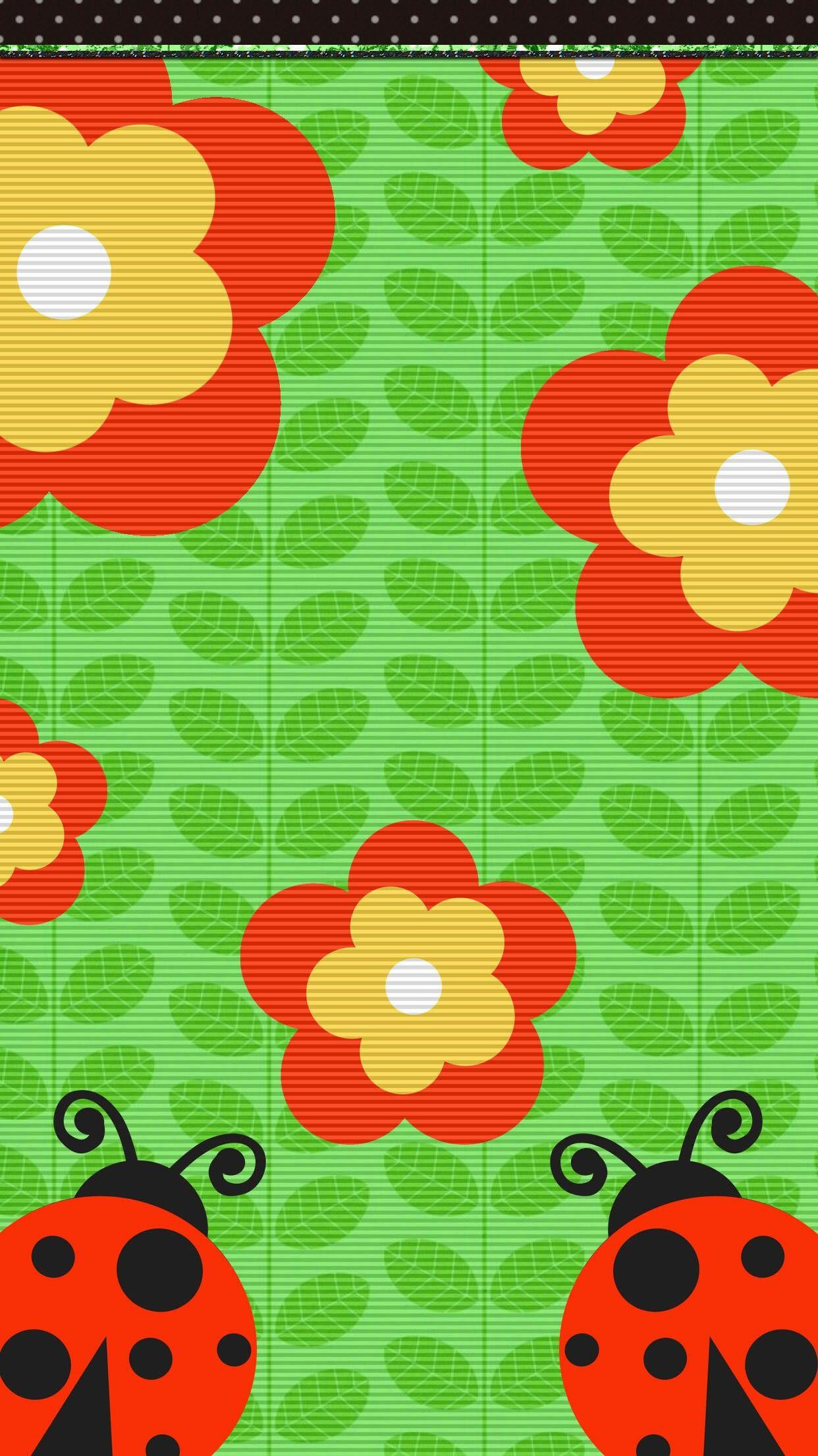 Cute Ladybug Wallpaper Iphone Beautiful Flower Backgrounds Home Screens