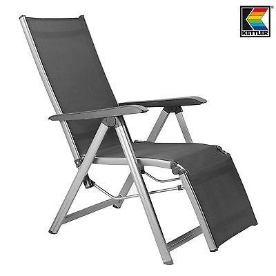 Kettler Basic Plus Liegestuhl Gartenstuhl Campingstuhl Aluminium