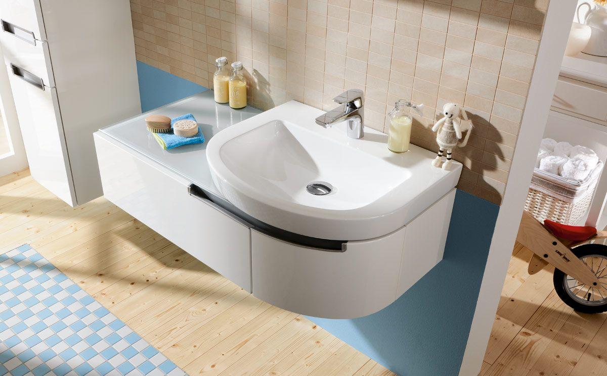 Villeroy Boch Subway 2 0 Gloss White Offset Curved Unit Villeroy Boch Besancon Sink