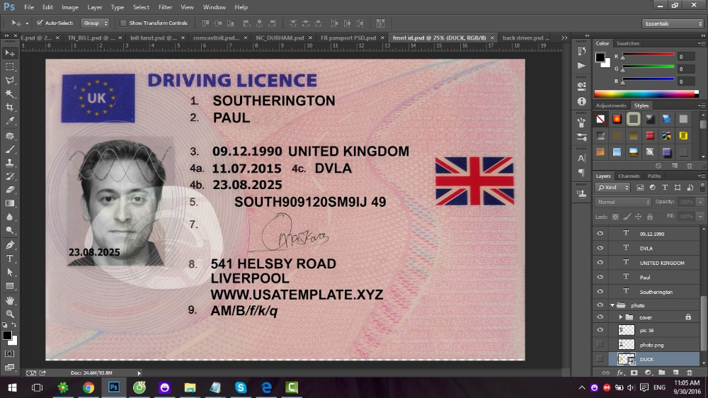 Photoshop Uk License Template Drivers Patinaresistancerestraint Within Isic Card Template 10 Card Template Holiday Photo Cards Template Loyalty Card Template